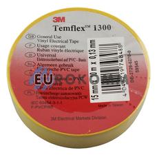 Изолента 3M TEMFLEX™ 1300 (0.13мм х15мм х10м, желтая)