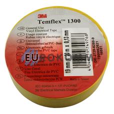 Изолента 3M TEMFLEX™ 1300 (0.13мм х19мм х20м, желтая)