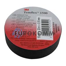 Изолента 3M TEMFLEX™ 1500 (0,15мм х19мм х20м, черная)