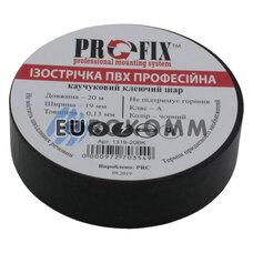 Изолента PROFIX 0.13x19мм 20м черная