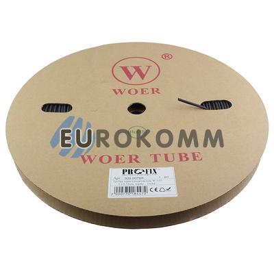 Трубка термоусадочная WOER 3.5/1.75 черная 100м