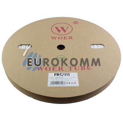 Трубка термоусадочная WOER 3.5/1.75 белая 100м