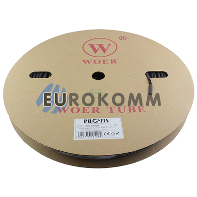 Трубка термоусадочная WOER 5.0/2.5 черная 100м