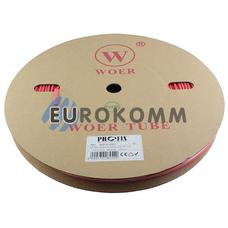 Трубка термоусадочная WOER 5.0/2.5 красная 100м