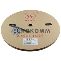 Трубка термоусадочная WOER 7.0/3.5 черная 100м