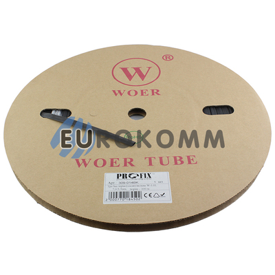 Трубка термоусадочная W-1-H WOER 7.0/3.5 черная 100м