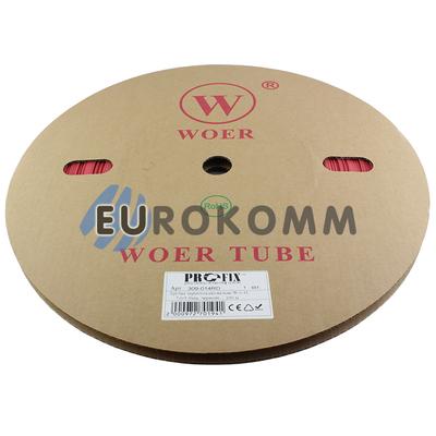 Трубка термоусадочная WOER 7.0/3.5 красная 100м