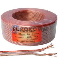 Акустический кабель 2x0.35мм² CCA Sound Star прозрачный 100м