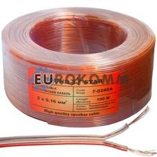 Акустический кабель 2x0.16мм² CCA Sound Star прозрачный 100м