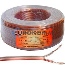 Акустический кабель 2x0.22мм² CU Sound Star прозрачный 100м