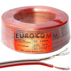 Акустический кабель 2x0.22мм² CCA Sound Star прозрачный 100м