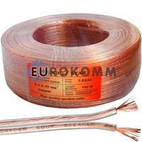 Акустический кабель 2x0.35мм² CU Sound Star прозрачный 100м