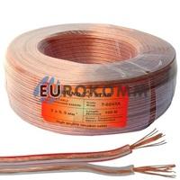 Акустический кабель 2x0.5мм² CCA Sound Star прозрачный 100м