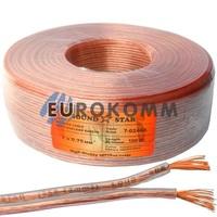 Акустический кабель 2x0.75мм² CCA Sound Star прозрачный 100м