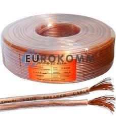 Акустический кабель 2x1.0мм² CU Sound Star прозрачный 100м