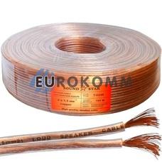 Акустический кабель 2x1.5мм² CU Sound Star прозрачный 100м