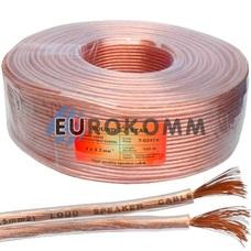Акустический кабель 2x2.0мм² CCA Sound Star прозрачный 100м
