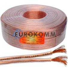 Акустический кабель 2x2.5мм² CCA Sound Star прозрачный 100м