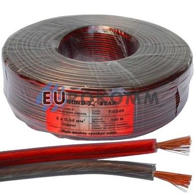 Акустический кабель 2x0.34мм² CU Sound Star 100м
