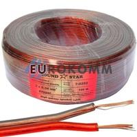 Акустический кабель 2x0.34мм² CU Sound Star красно-черный 100м