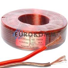 Акустический кабель 2x0.57мм² CCA Sound Star красно-черный 100м