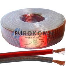 Акустический кабель 2x0.9мм² CU Sound Star красно-черный 100м