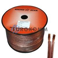 Акустический кабель 2x1.5мм² CCA Sound Star 100м