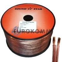 Акустический кабель 2x0.5мм² CCA Sound Star 100м