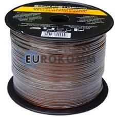 Акустический кабель 2x0.75мм² CCA Sound Stream прозрачно-черный 100м