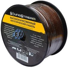 Акустический кабель 2x1.5мм² CCA Sound Stream прозрачно-черный 100м