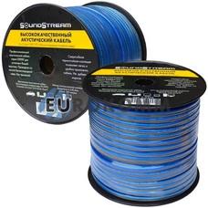 Акустический кабель 2x2.5мм² TinCU Sound Stream полупрозрачный 100м