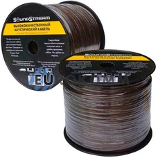 Акустический кабель 2x2.5мм² CCA Sound Stream прозрачно-черный 100м