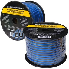 Акустический кабель 2x4.0мм² TinCU Sound Stream полупрозрачный 50м