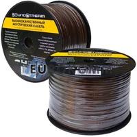 Акустический кабель 2x4.0мм² CCA Sound Stream прозрачно-черный 100м