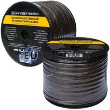 Акустический кабель 2x6.0мм² CCA Sound Stream прозрачно-черный 50м