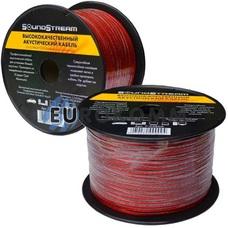 Акустический кабель 2x0.34мм² CCA Sound Stream красно-черный 100м