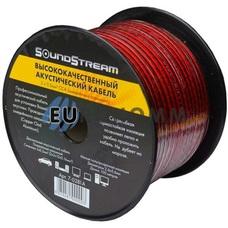 Акустический кабель 2x0.5мм² CCA Sound Stream красно-черный 100м