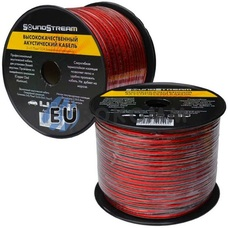 Акустический кабель 2x0.75мм² CCA Sound Stream красно-черный 100м