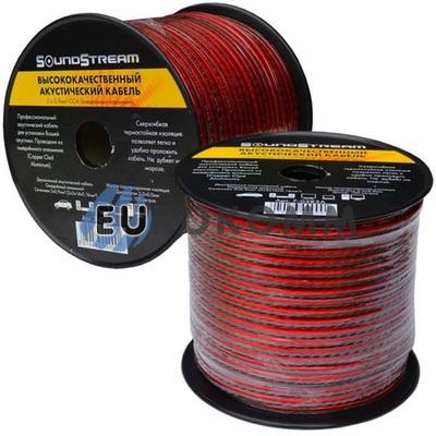 Акустический кабель 2x0.9мм² CCA Sound Stream красно-черный 100м