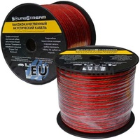 Акустический кабель 2x2.5мм² CCA Sound Stream красно-черный 100м