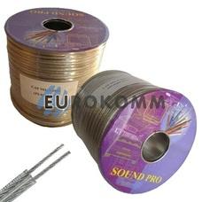 Акустический кабель 2x1.5мм² TinСU Sound PRO JY-6189 прозрачный 100м