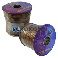 Акустический кабель 2x1.5мм² СU Sound PRO JY-0063 прозрачный 100м