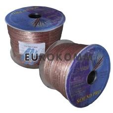 Акустический кабель 2x2.5мм² СU Sound PRO JY-6315 прозрачный 100м
