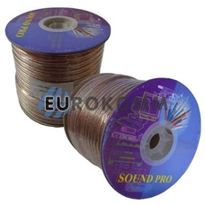 Акустический кабель 2x2.5мм² СU Sound PRO JY-6315BT прозрачный 100м