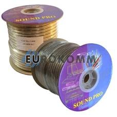 Акустический кабель 2x3.0мм² TinСU Sound PRO JY-6030 прозрачный 100м