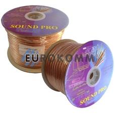 Акустический кабель 2x3.5мм² СU Sound PRO JY-6035B прозрачный 100м