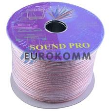 Акустический кабель 2x4.0мм² СU Sound PRO JY-6511 прозрачный 100м