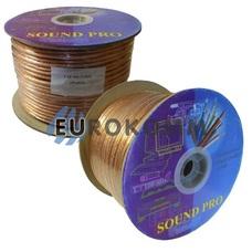 Акустический кабель 2x6.0мм² СU Sound PRO JY-6525 прозрачный 100м