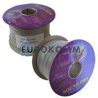 Акустический кабель плоский 2x1.0мм² СU Sound PRO JY-6112 серый 100м