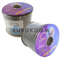 Акустический кабель плоский 2x1.5мм² СU Sound PRO JY-6112 серый 100м